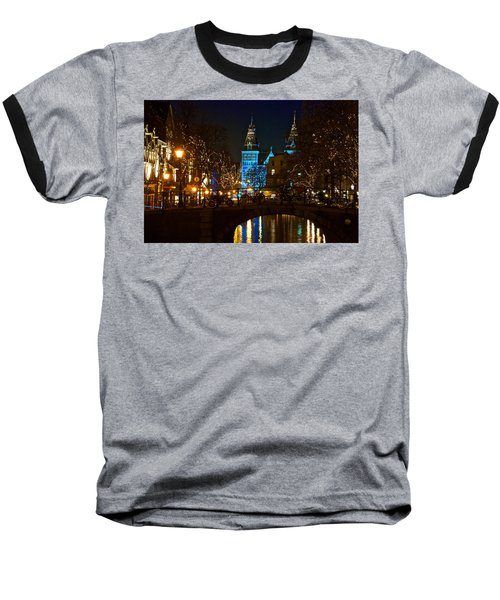 Rijksmuseum At Night Baseball T-Shirt