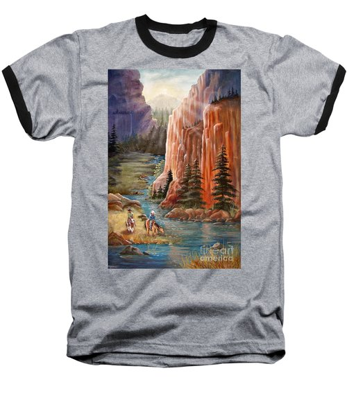 Rim Canyon Ride Baseball T-Shirt by Marilyn Smith