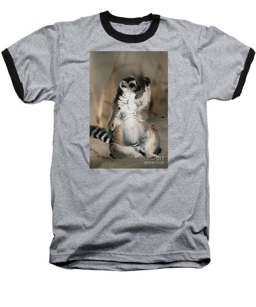 Baseball T-Shirt featuring the photograph Ring-tailed Lemur by Judy Whitton