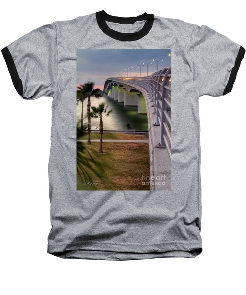 Ringling Causeway Bridge Overlook Baseball T-Shirt