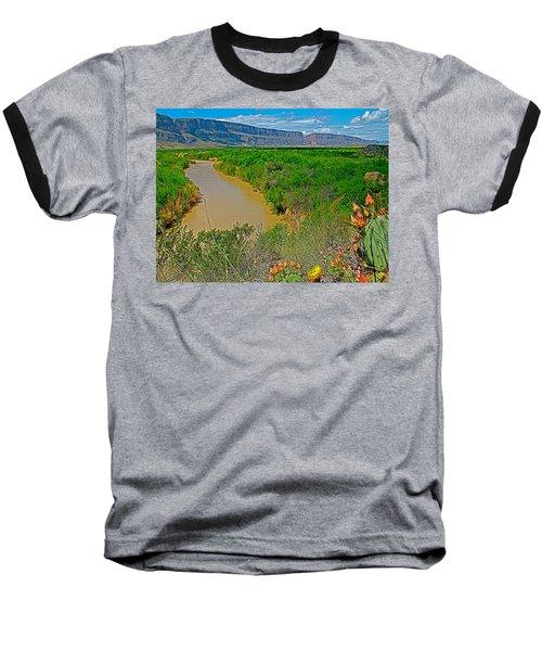 Rio Grande East Of Santa Elena Canyon In  Big Bend National Park-texas Baseball T-Shirt