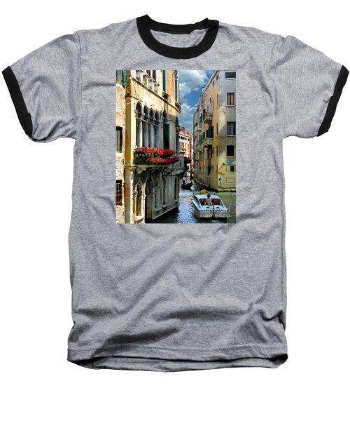 Baseball T-Shirt featuring the photograph Rio Menuo O De La Verona. Venice by Jennie Breeze