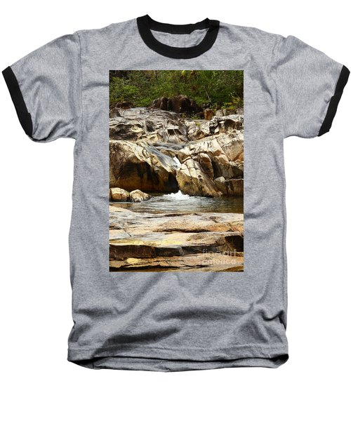 Rio On Pools Baseball T-Shirt by Kathy McClure