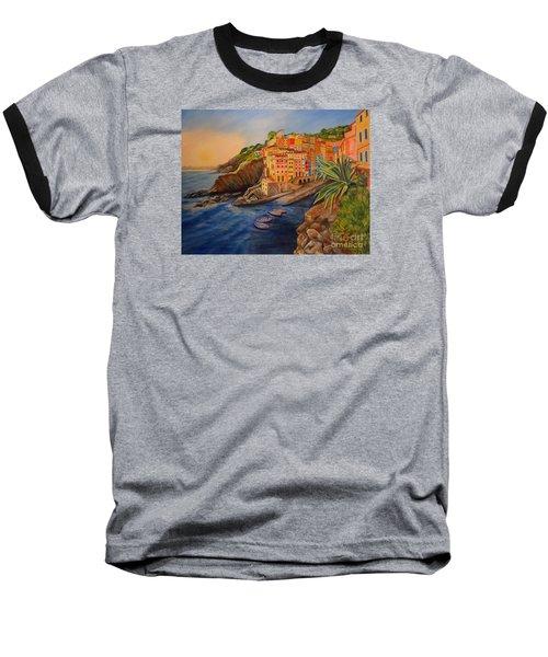 Riomaggiore Amore Baseball T-Shirt by Julie Brugh Riffey