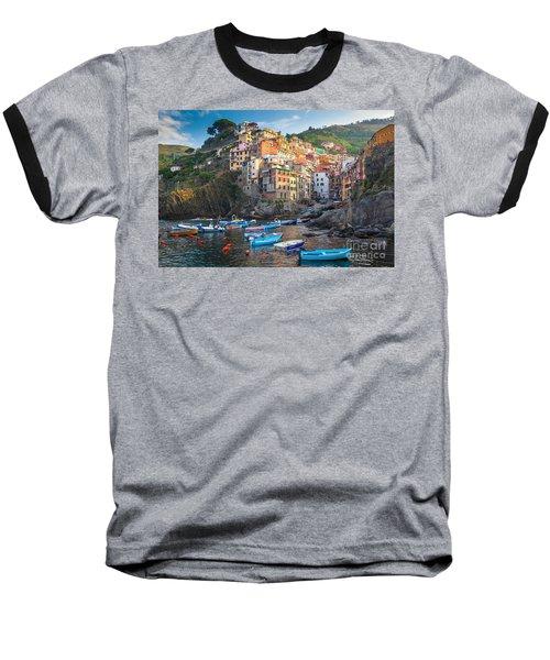 Riomaggiore Boats Baseball T-Shirt