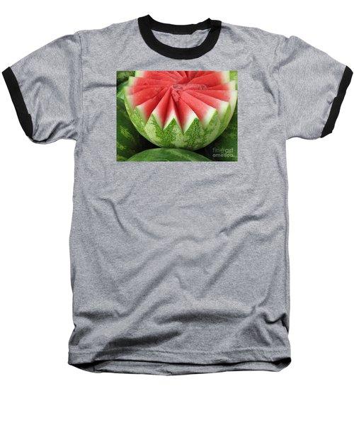 Ripe Watermelon Baseball T-Shirt by Ann Horn