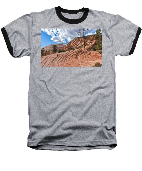 Baseball T-Shirt featuring the photograph Rippled Rock At Zion National Park by John M Bailey