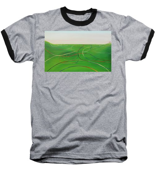 Baseball T-Shirt featuring the painting Ripples Of Life 1 by Tim Mullaney