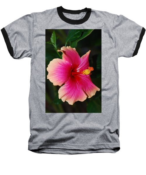 Rise And Shine - Hibiscus Face Baseball T-Shirt