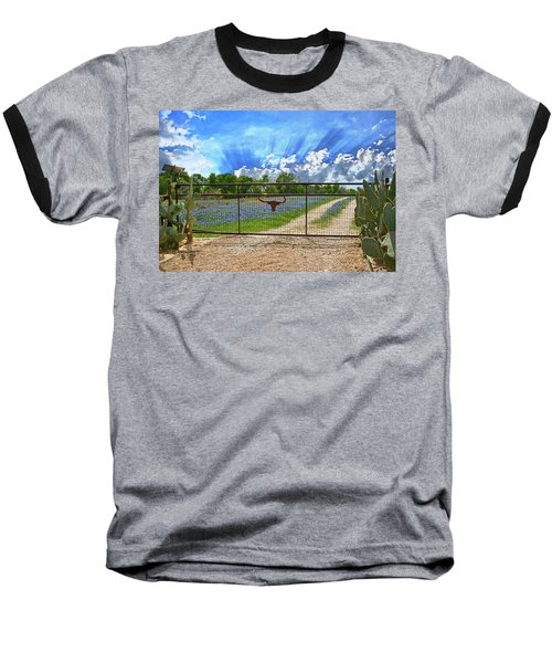 Rise And Shine Baseball T-Shirt by Lynn Bauer