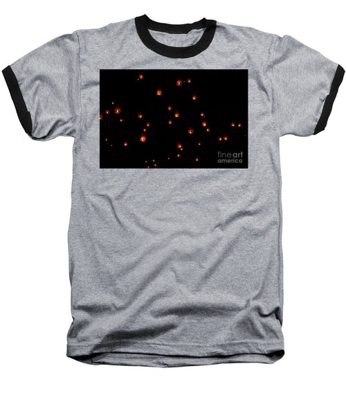 Rise Festival Lanterns 2014 Horizontal Sky Only Number One Baseball T-Shirt