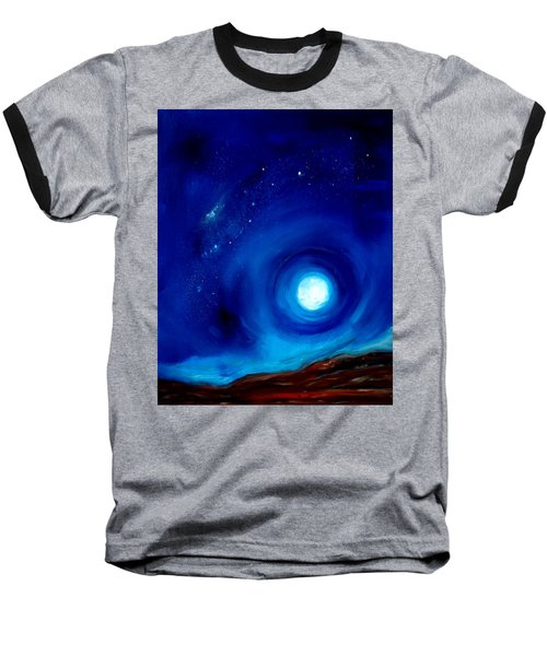 Rising Desert Moon Baseball T-Shirt