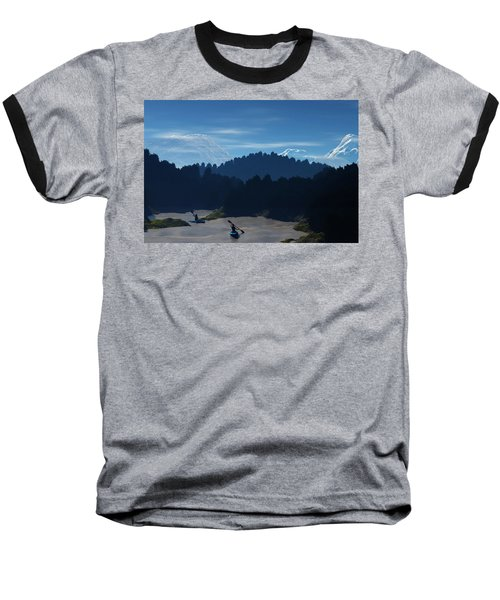 River Adventure Baseball T-Shirt