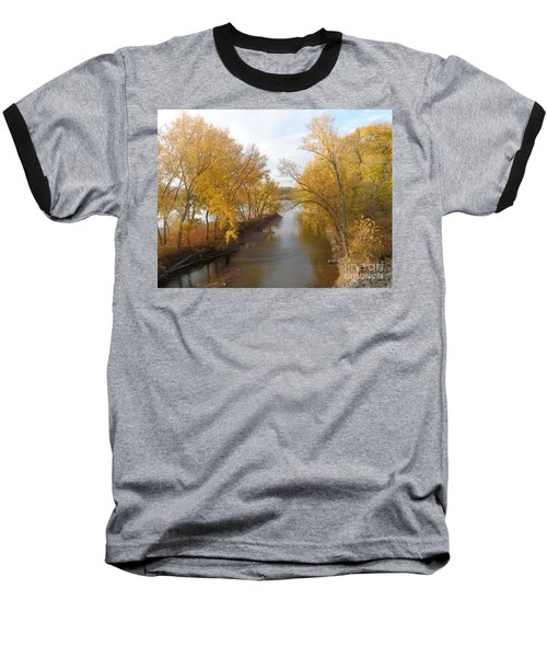 Baseball T-Shirt featuring the photograph River And Gold by Christina Verdgeline