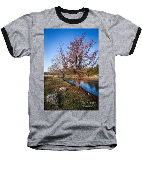 River And Winter Trees Baseball T-Shirt