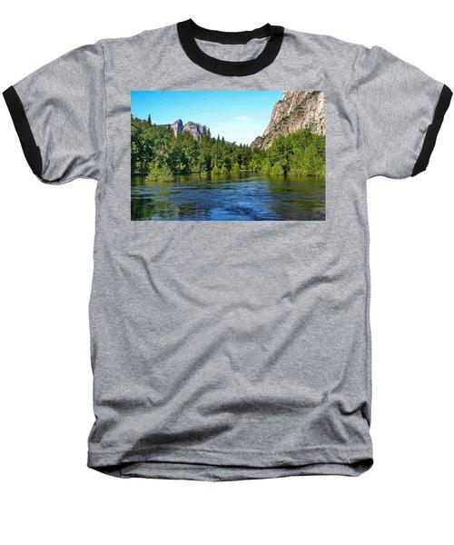 Yosemite National Park Baseball T-Shirt by Menachem Ganon