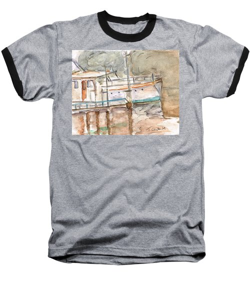 Baseball T-Shirt featuring the painting River Boat  by Teresa White