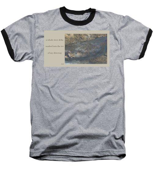 Baseball T-Shirt featuring the digital art River Delta Haiga by Judi and Don Hall
