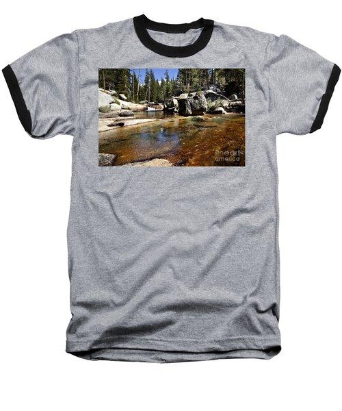 River Flows Baseball T-Shirt by David Millenheft