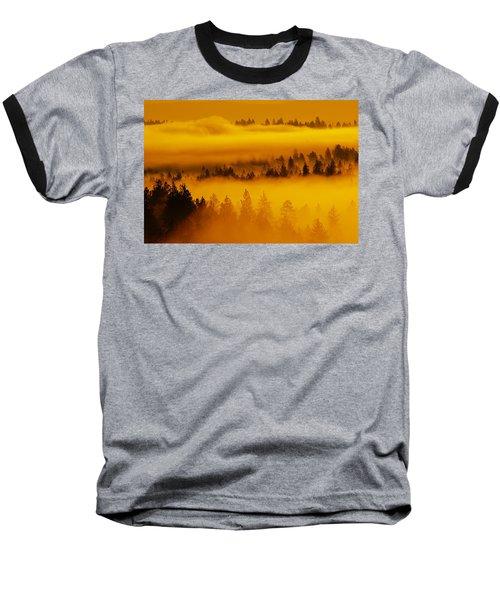 River Fog Rising Baseball T-Shirt