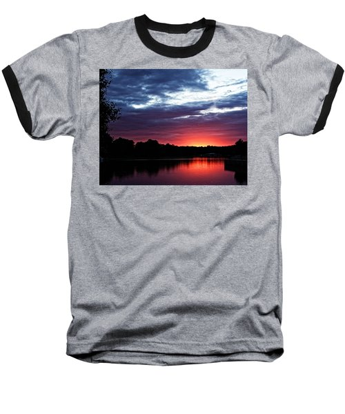 River Glow Baseball T-Shirt by Dave Files