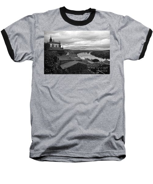 River Mino And Portugal From Tui Bw Baseball T-Shirt