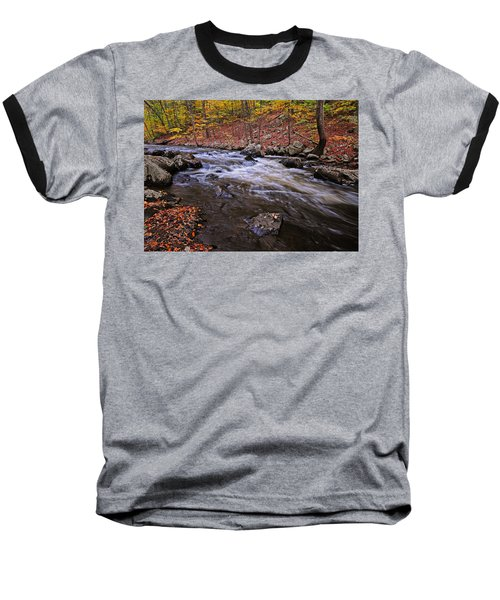 River Of Color Baseball T-Shirt by Dave Mills