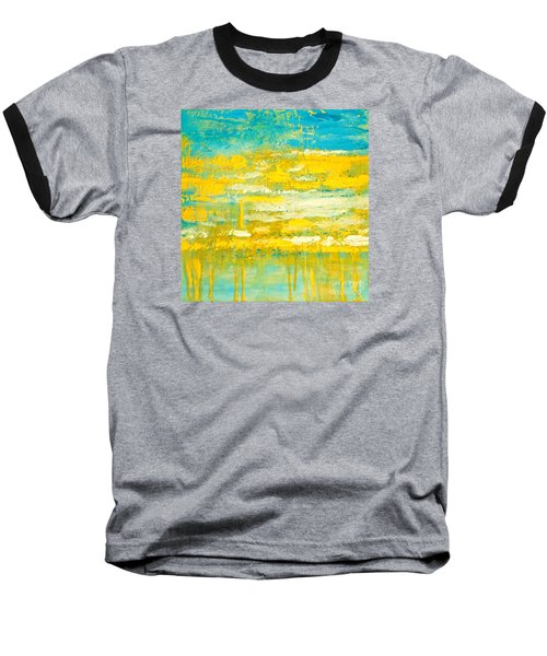 Baseball T-Shirt featuring the painting River Of Praise by Donna Dixon