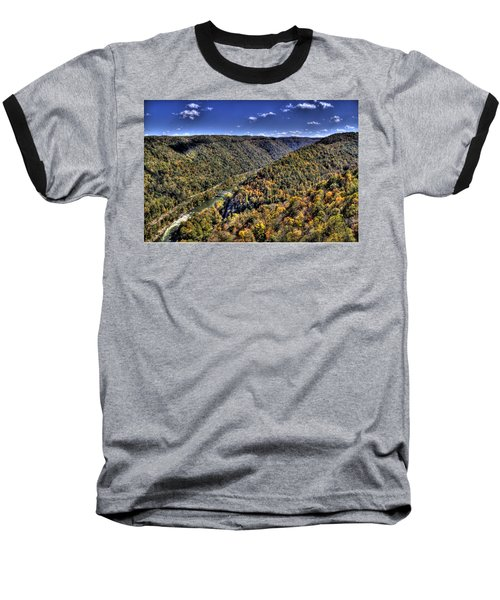 River Running Through A Valley Baseball T-Shirt