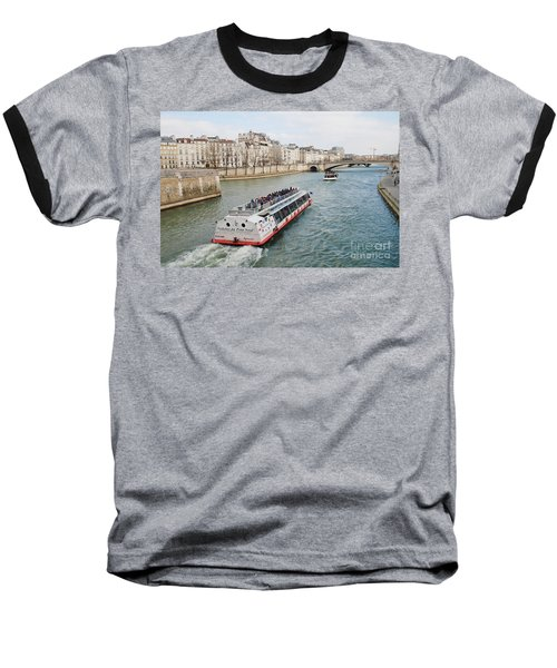 River Seine Excursion Boats Baseball T-Shirt