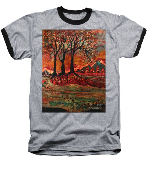 River Sunrise - Lothlorien Baseball T-Shirt