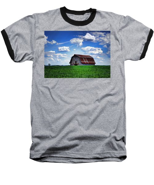 Riverbottom Barn Against The Sky Baseball T-Shirt