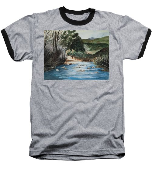 Riverscape Baseball T-Shirt by Lee Beuther