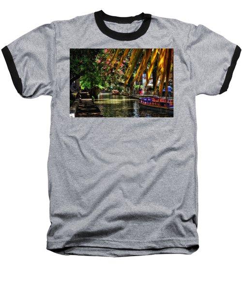 Riverwalk II Baseball T-Shirt by Tricia Marchlik