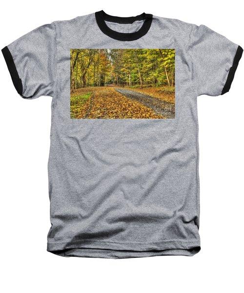 Road Into Woods Baseball T-Shirt