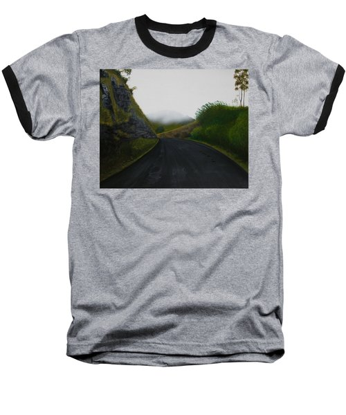 Baseball T-Shirt featuring the painting Road Near Gresford Nsw by Tim Mullaney
