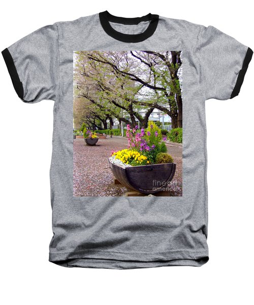 Baseball T-Shirt featuring the photograph Road Of Flowers by Andrea Anderegg
