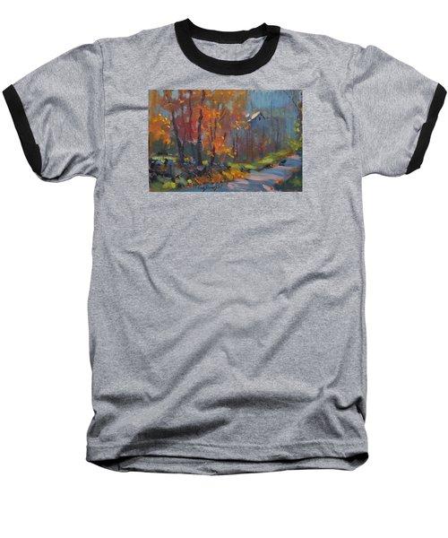 Road South Baseball T-Shirt by Len Stomski