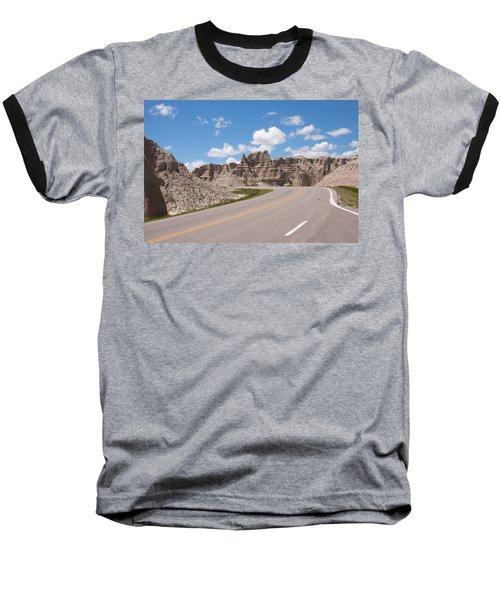 Road Through The Badlands Baseball T-Shirt