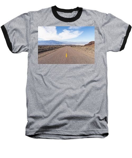 Road To Death Valley Baseball T-Shirt by Muhie Kanawati