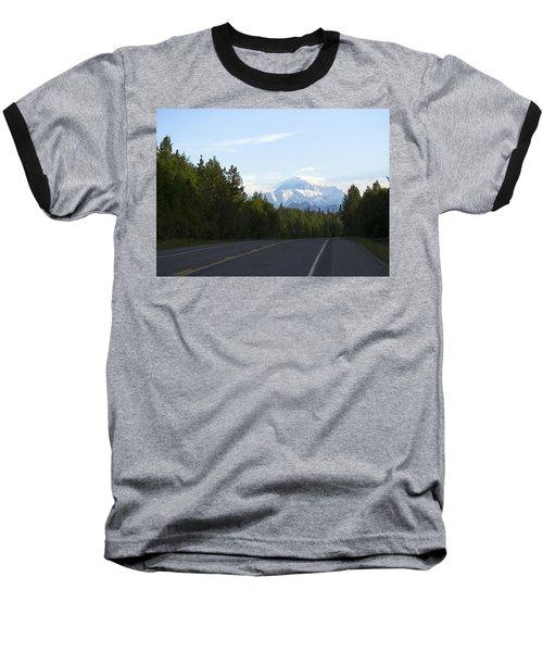 Road To Denali  Baseball T-Shirt