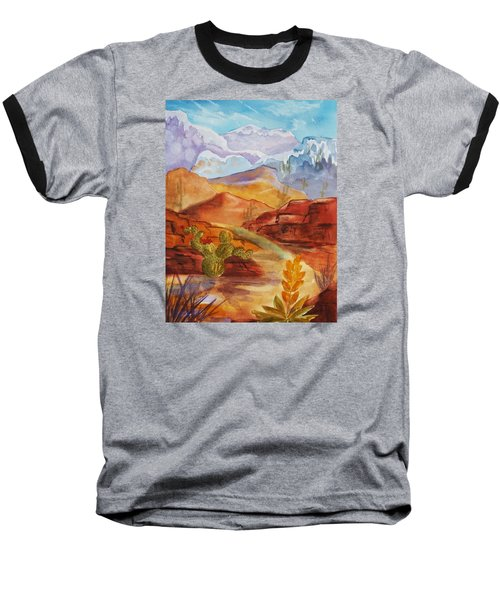 Road To Nowhere Baseball T-Shirt by Ellen Levinson