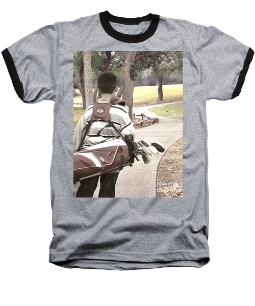 Baseball T-Shirt featuring the photograph Road To Success - Inspirational Art by Ella Kaye Dickey