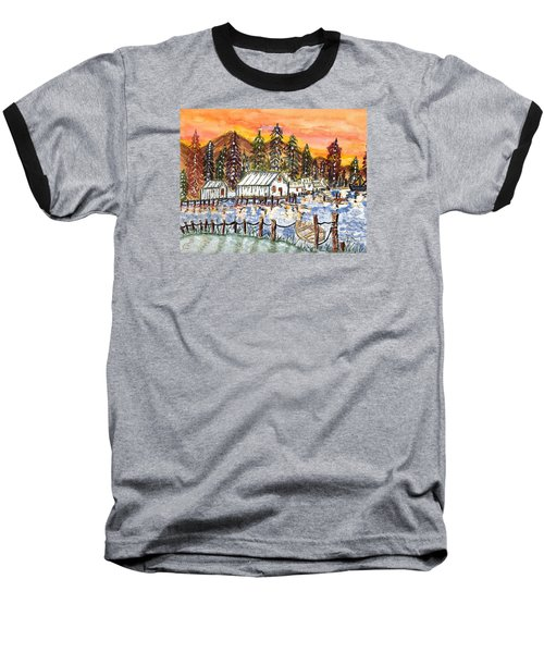 Baseball T-Shirt featuring the painting Road To The Oregon Coast by Connie Valasco