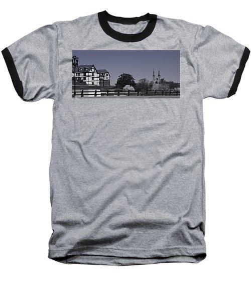 Roanoke Virginia Springtime Cityscape Bw Baseball T-Shirt