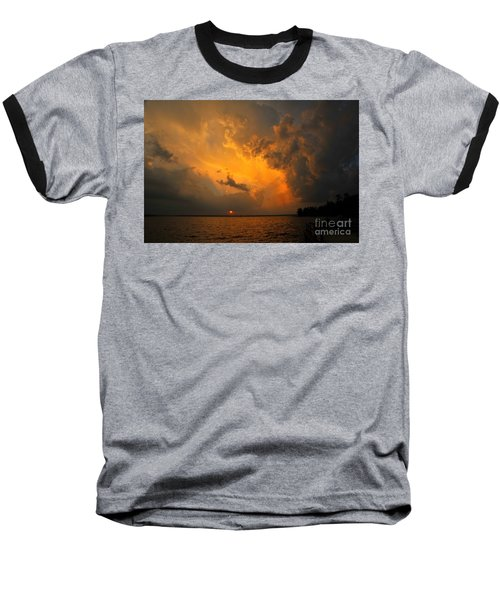 Baseball T-Shirt featuring the photograph Roar Of The Heavens by Terri Gostola