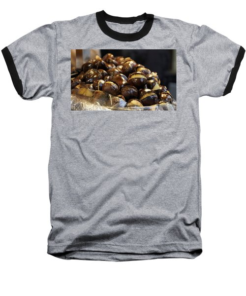 Baseball T-Shirt featuring the photograph Roasted Chestnuts by Lilliana Mendez