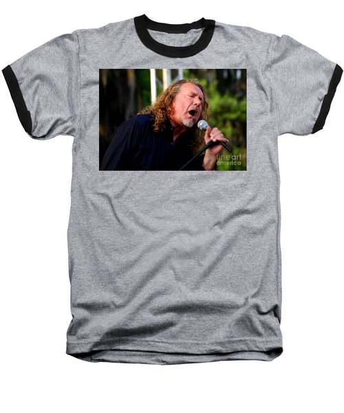 Robert Plant 2 Baseball T-Shirt by Angela Murray