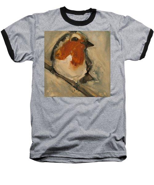 European Robin Baseball T-Shirt