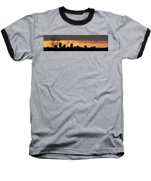 Rochester Skyline Baseball T-Shirt by Richard Engelbrecht